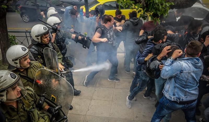 Ψήφισμα για το χτύπημα της αντιμπεριαλιστικής πορείας της νεολαίας σήμερα στην Αθήνα